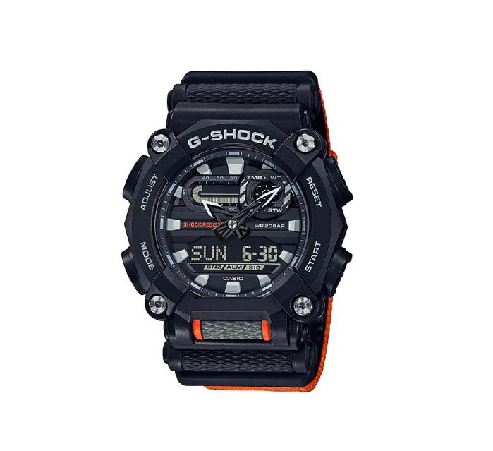 Relógio de Pulso Masculino Casio G-Shock GA-900C-1A4DR - Preto e Laranja