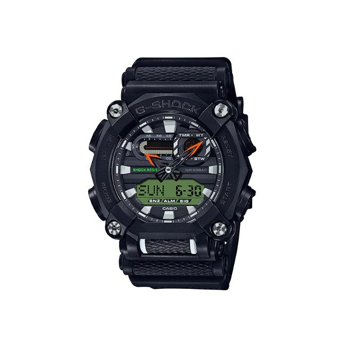 Relógio de Pulso Masculino Casio G-Shock GA-900E-1A3DR - Preto com Verde