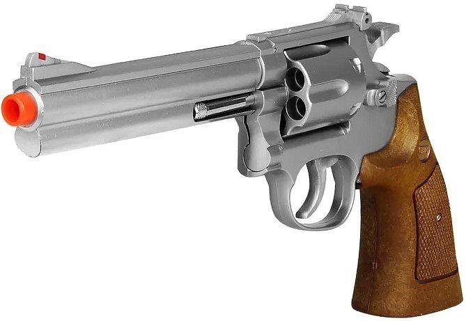 Revolver Airsoft S&W M586 Silver 6 Tiros Calibre 6mm