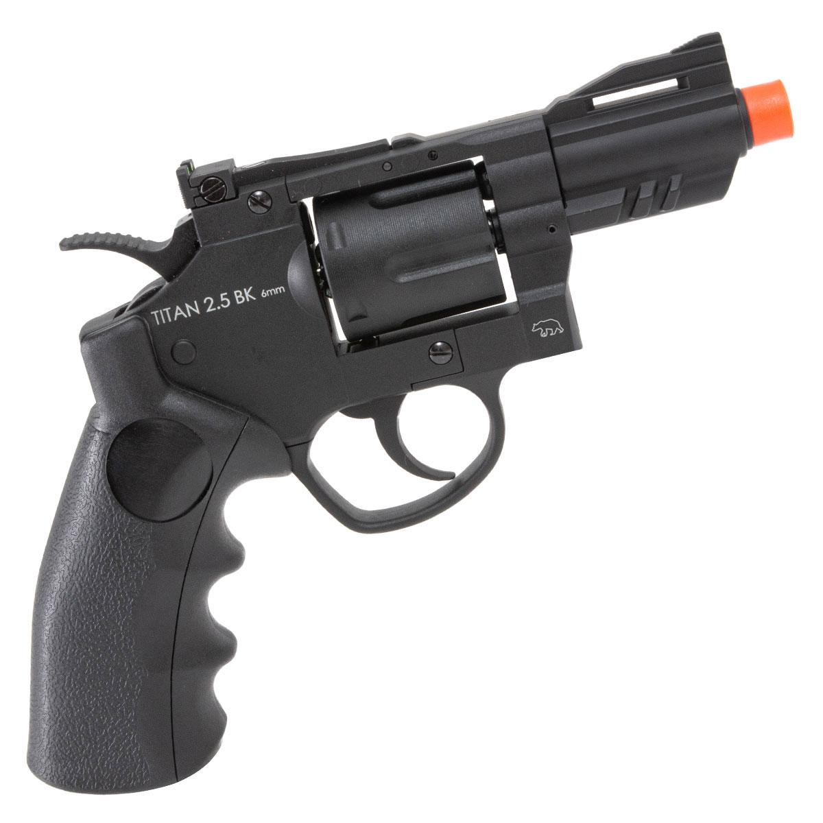 Revolver de Airsoft Titan 2.5 BK QGK a Gás Co2