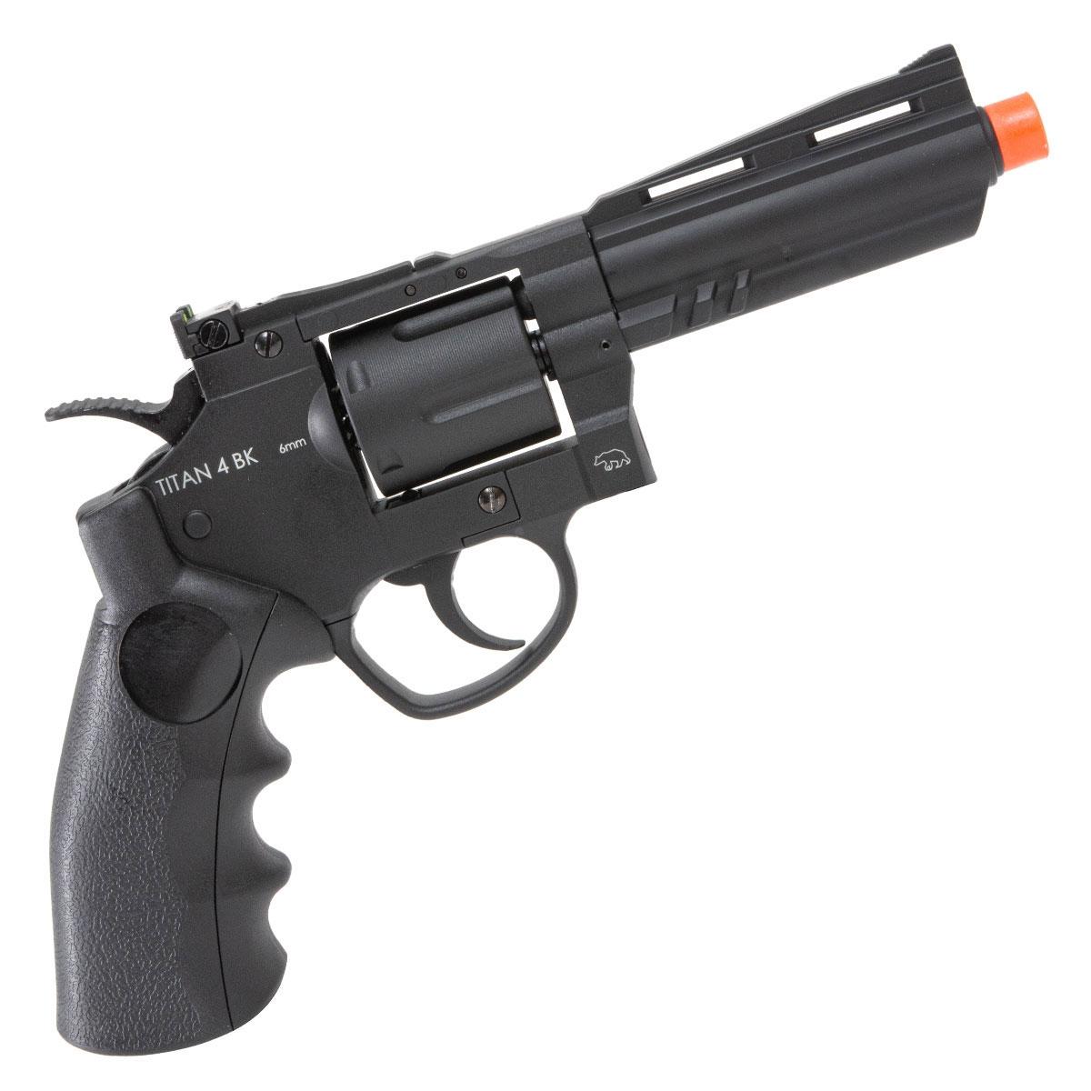 Revolver de Airsoft Titan 4 BK QGK a Gás Co2