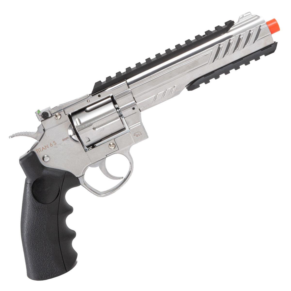Revolver de Airsoft Titan 6 S QGK a Gás CO2