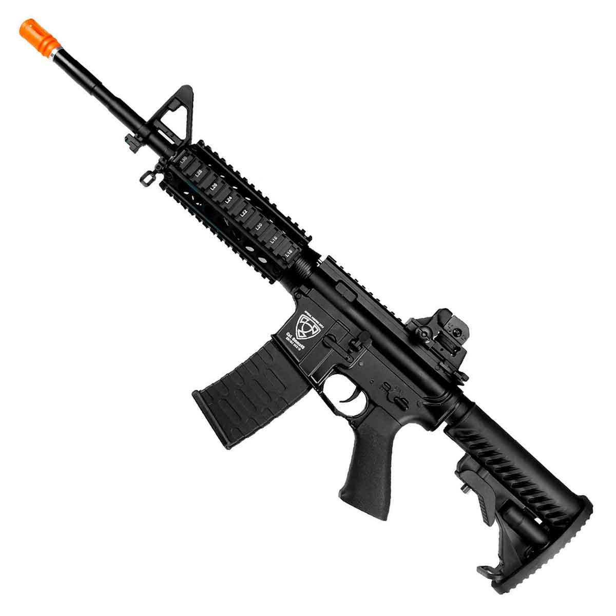 Rifle Airsoft APS M4 ASR104 Full Metal RIS BlowBack Elétrico Bivolt