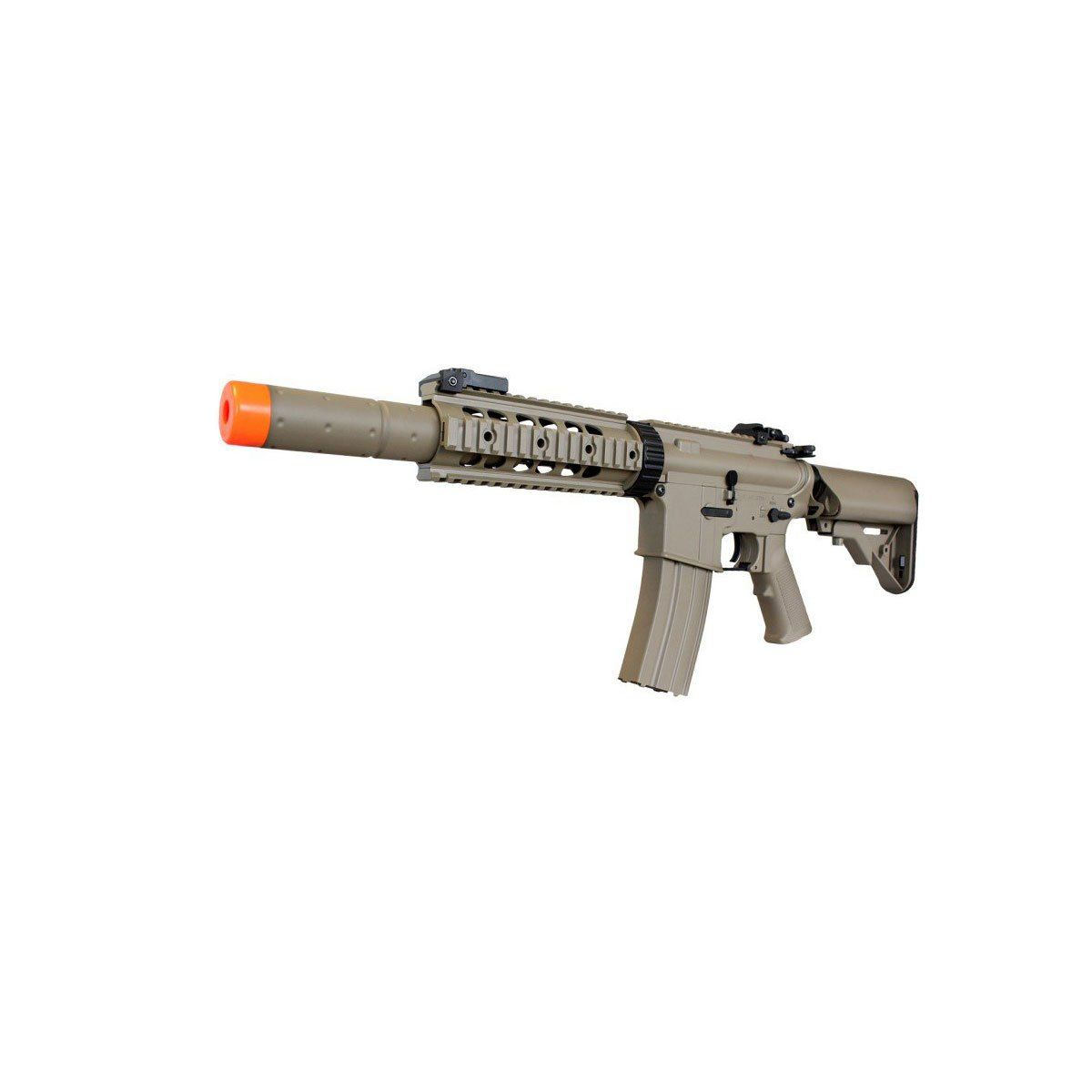 Rifle de Airsoft M4A1 Ris Cyma CM513 TAN Elétrico Bivolt 6mm