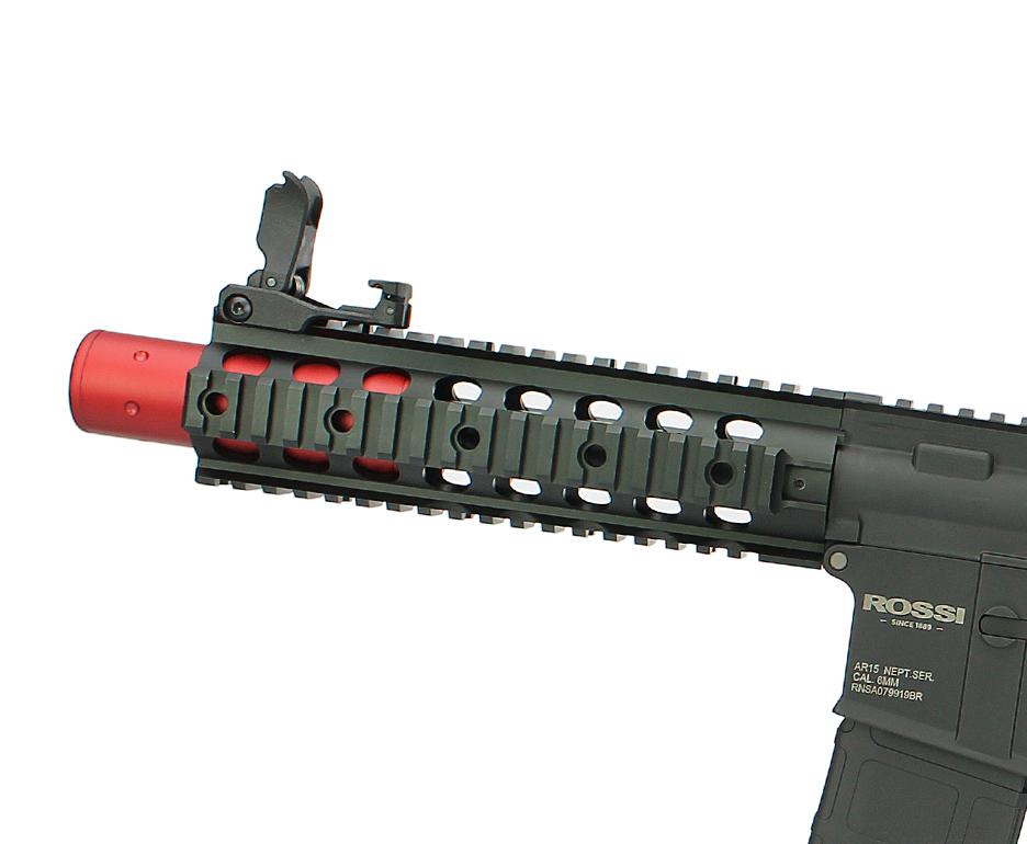 """Rifle Airsoft Rossi AR15 Neptune Eletrônico 8"""" 6mm + Bateria 9,6v 1100mAh e Carregador"""
