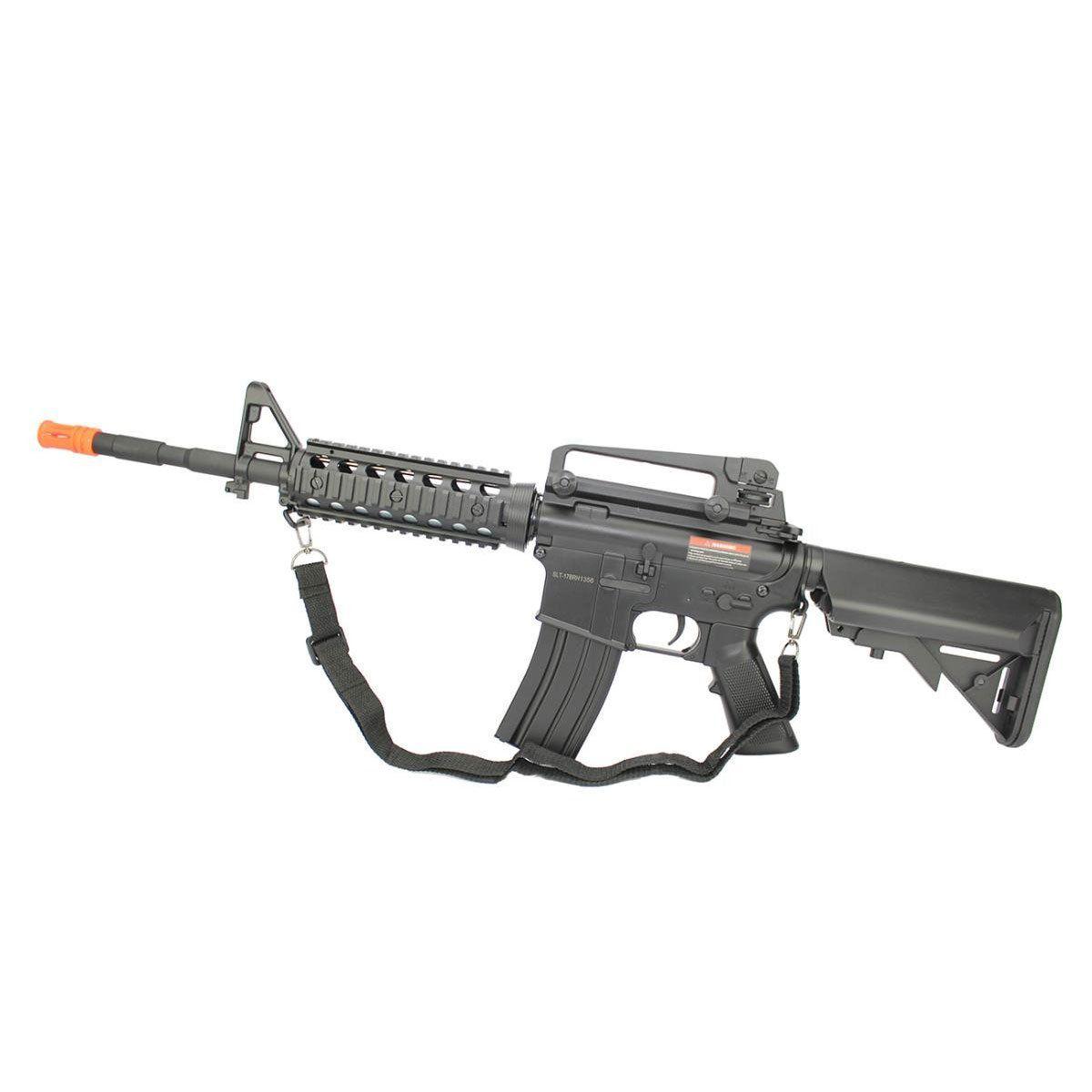 Rifle de Airsoft Cyma M4A1 RIS CM507 Elétrico Bivolt - 6mm
