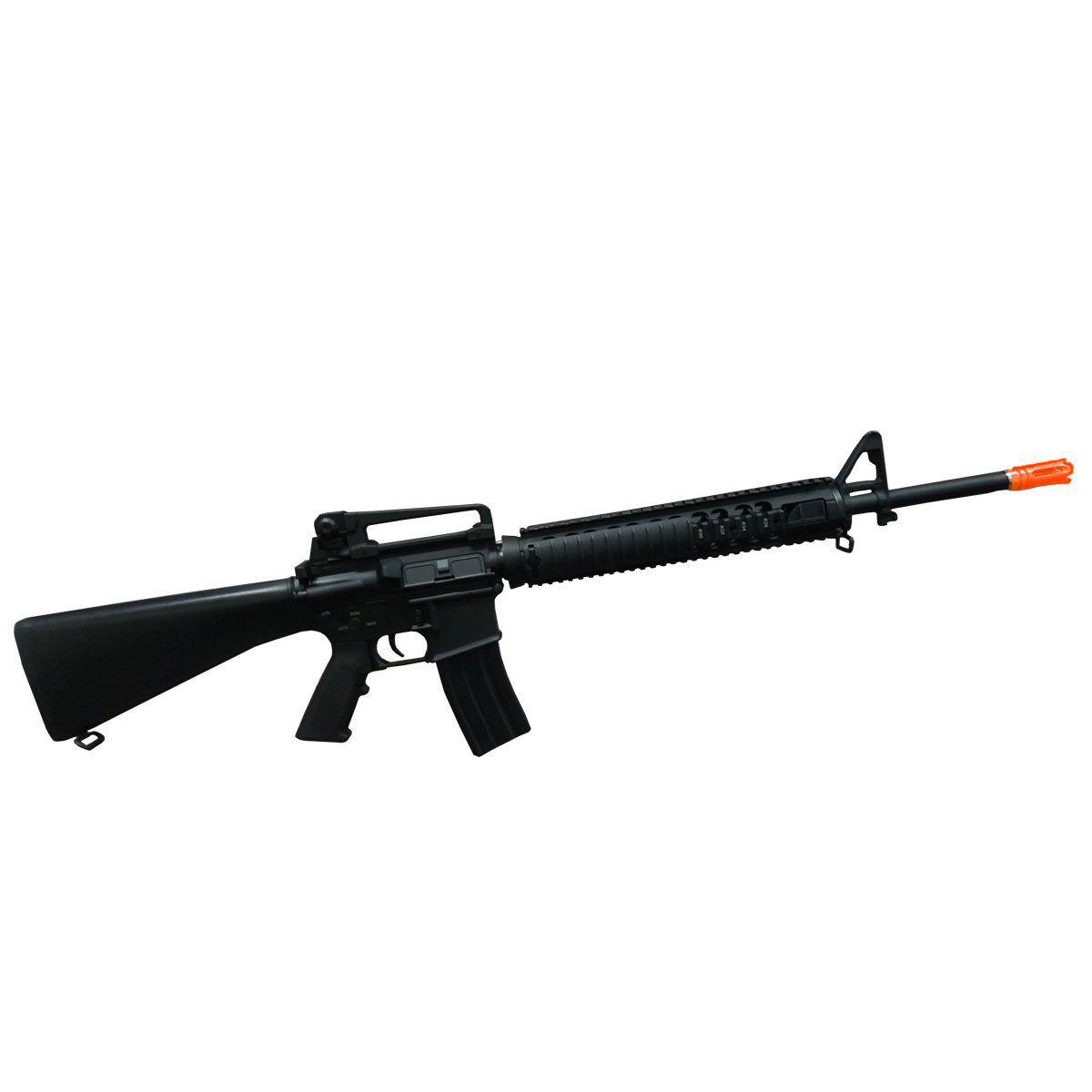 Rifle de Airsoft D-boys M16A4 Ris Full Metal Elétrico