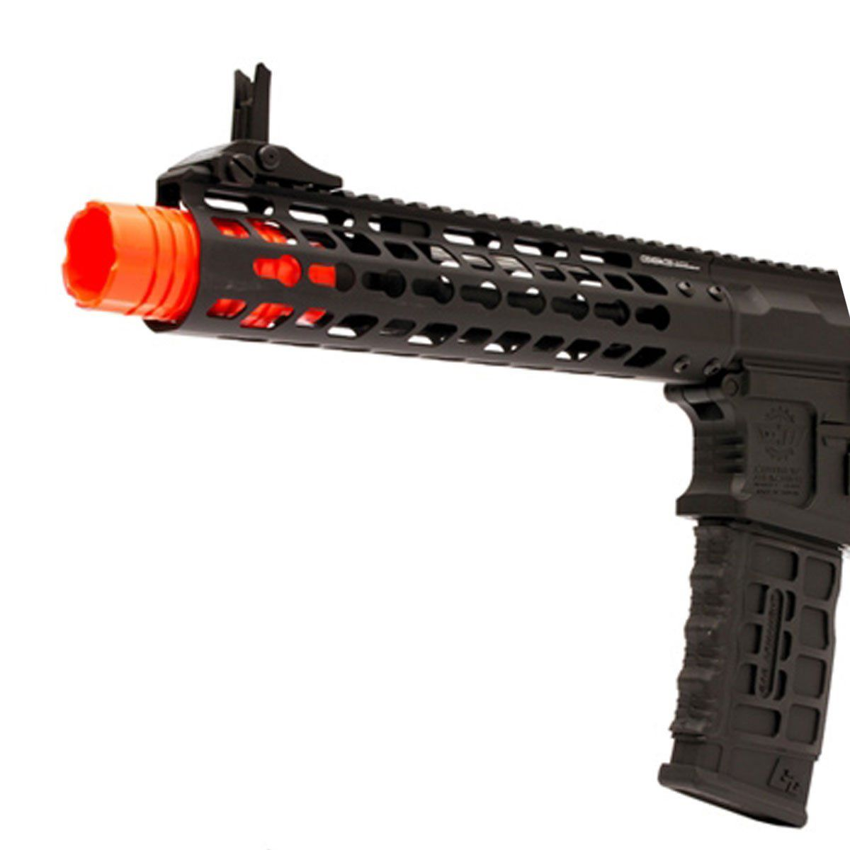 "Rifle Airsoft G&G M4 CM16 WILD HOG 9"" Full Metal Elétrico Bivolt"