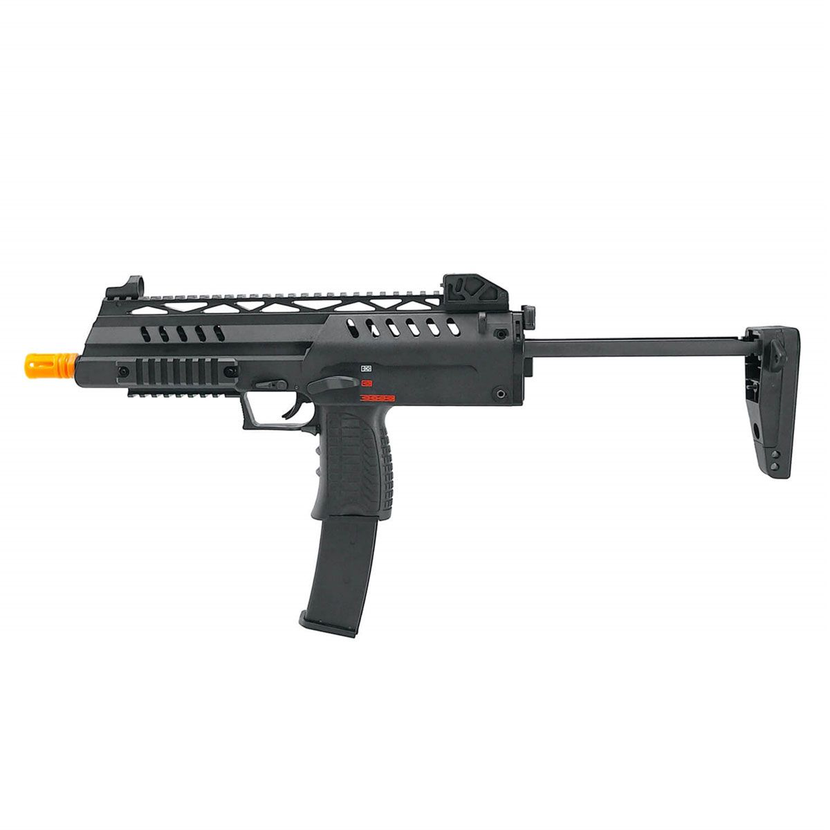 Rifle de Airsoft WE a Gás GBB MP7 SMG8 Blowback 6mm
