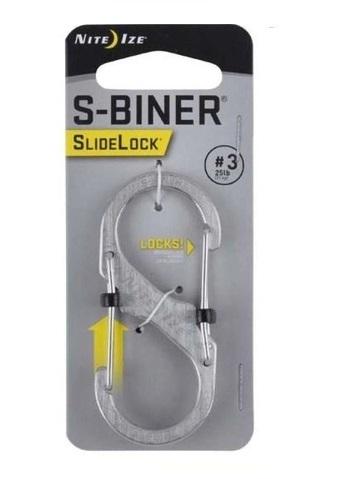 S-biner Trava Slidelock 2 em Aço Inox - Nite Ize