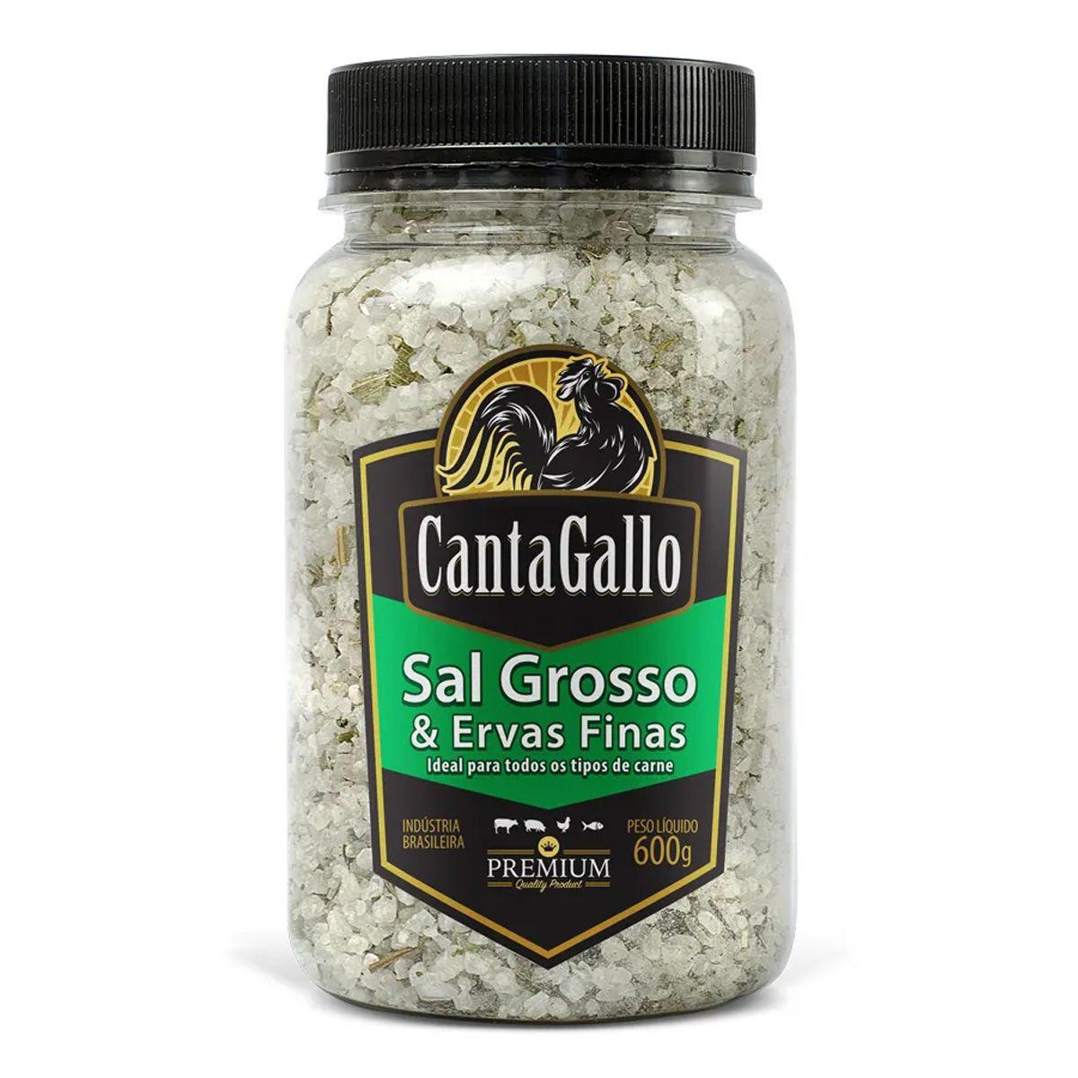 Sal Grosso e Ervas Finas Cantagallo Premium 600g
