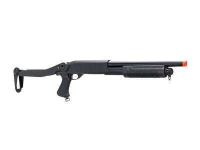 Shotgun Airsoft Escopeta Cyma M870 FS Coronha rebatível - CM352 6MM