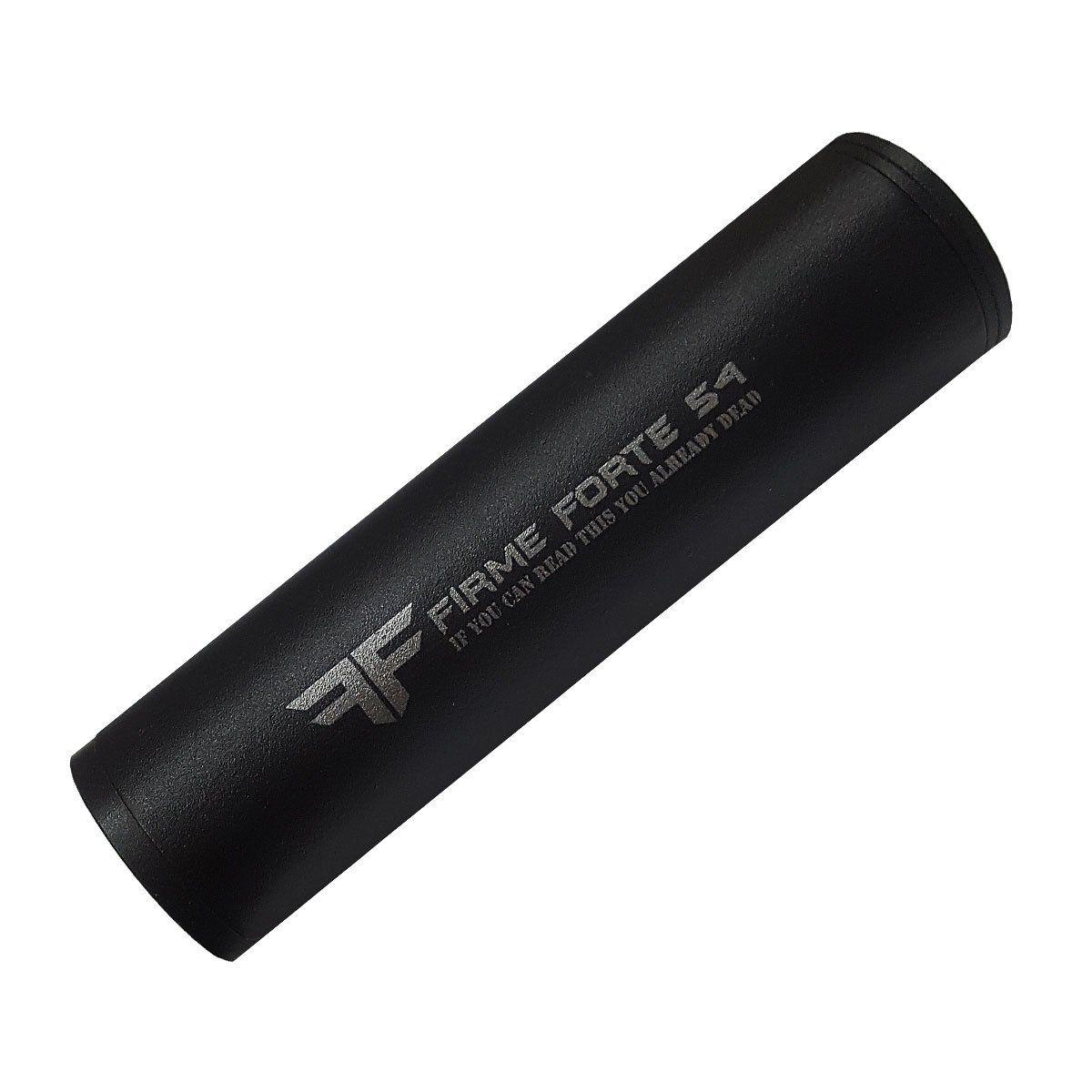 Silenciador para Airsoft Universal Rosca Esq/Dir Firme&Forte Preto