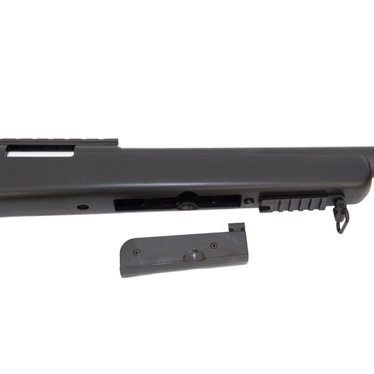 Sniper de Airsoft Well VSR-10 MB03A spring com Bipé 6mm