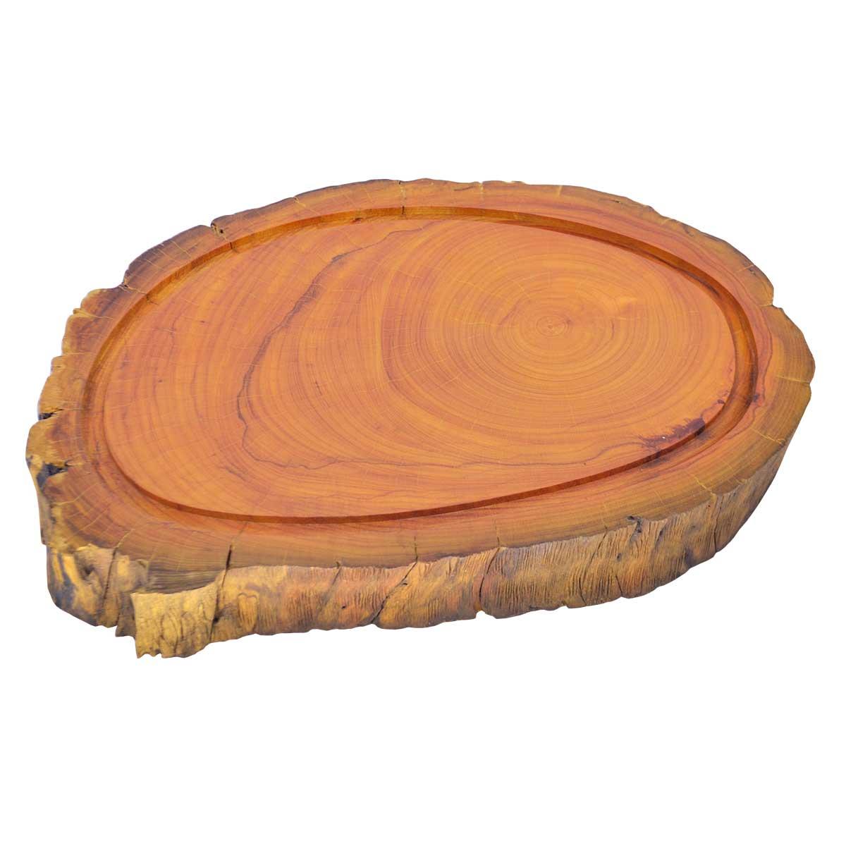 Tábua de Carne para Churrasco Rústica Madeira Champanhe