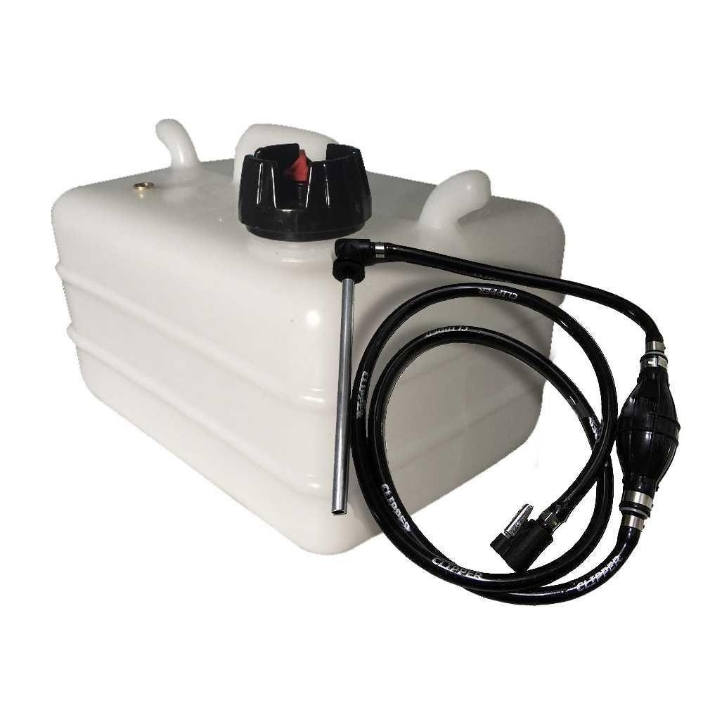 Tanque de Combustível 12L c/ Mangueira Completa para Motor Yamaha - Branco