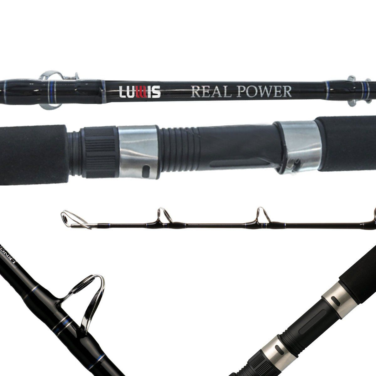 Vara Lumis Real Power Molinete 1,80m 5'9'' Extra Pesada 80-160LB