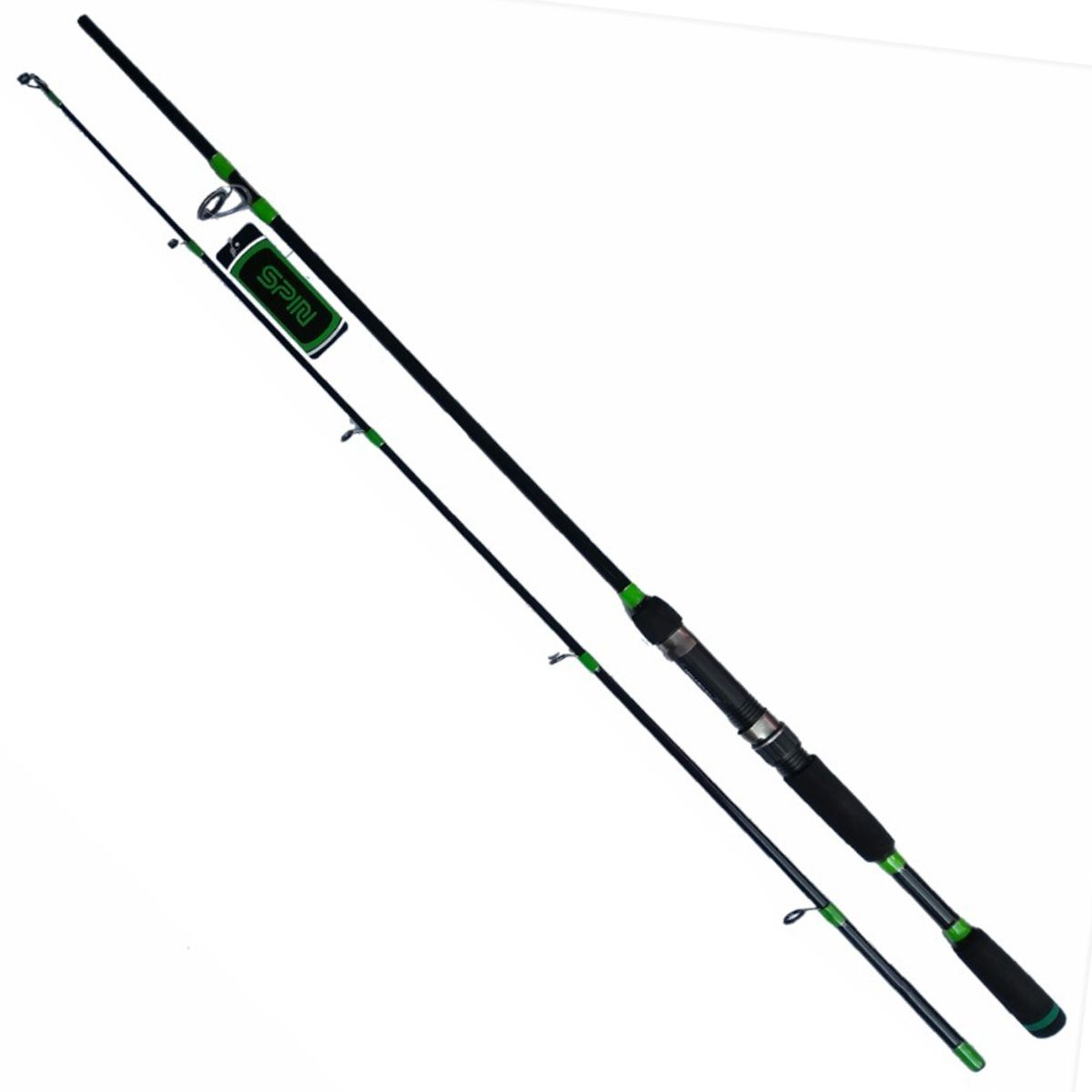 Vara para Carretilha Plusfish Spin 1,83m 10-20LB Preto com Detalhes Verde