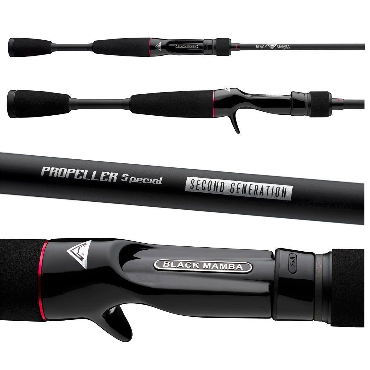 Vara Redai Black Mamba Second Gen. Carretilha 1,76m 5?8? 12-20LB