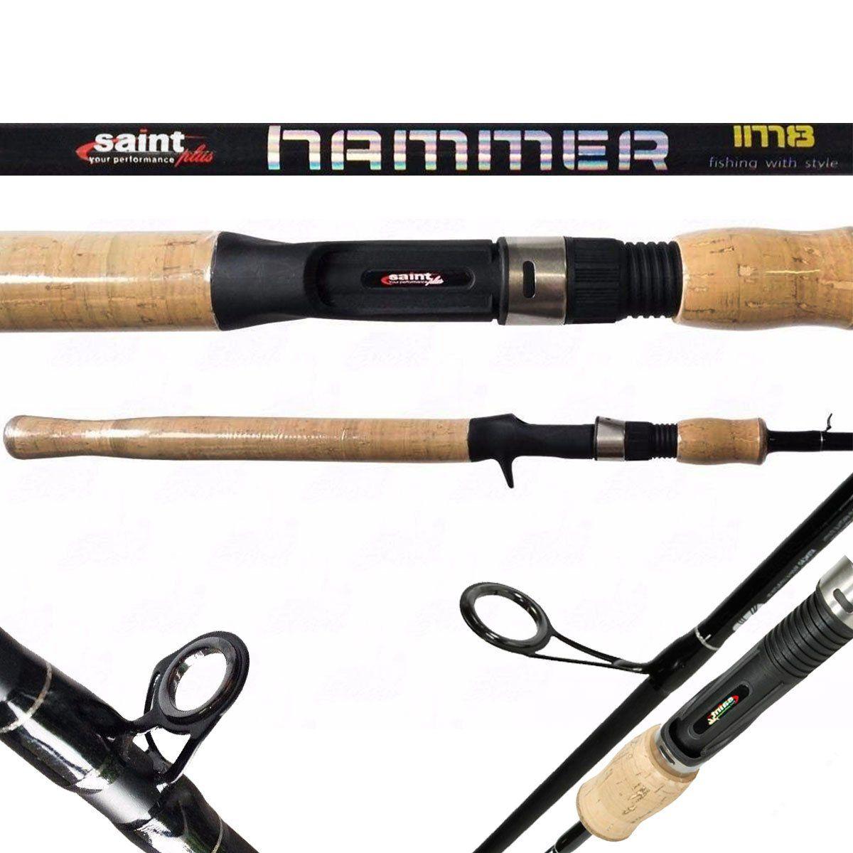 Vara Saint Plus Hammer Carretilha 1,72m Média 7-17LB