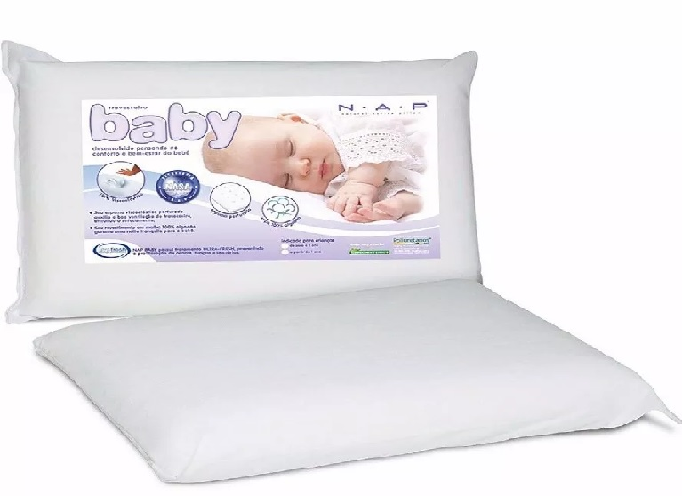 Travesseiro Nasa Baby C/ Capa 100% Algodão | Nap