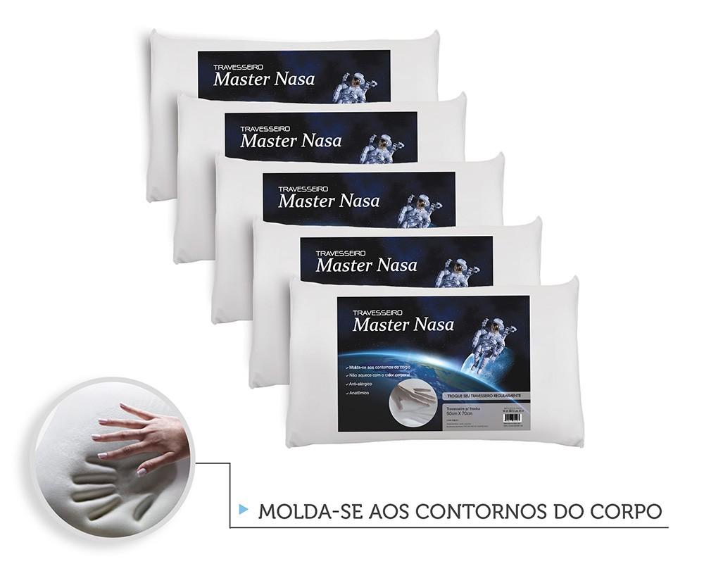 Kit Travesseiro Nasa 5 Pecas - Antialergico - Toque Macio