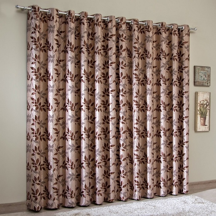 Cortina Blackout Jacquard 300x250 cm Chocolate | Sultan