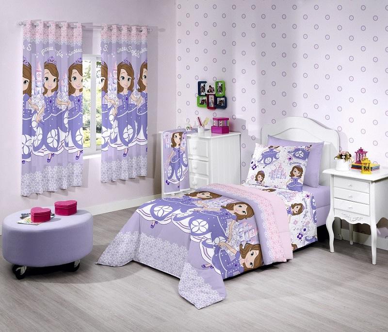 Cortina Infantil Sofia Sweet 280x180 | Santista