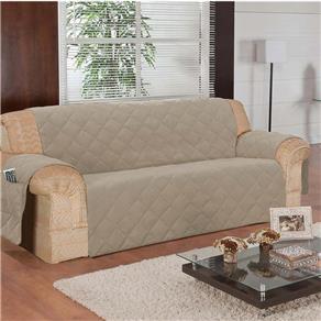 Protetor Sofa 3 Lugares C/ Porta Controle Bege | Guerreiro