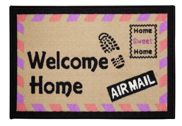 Tapete de Porta 40x60 cm Happy Day Air Mail | Corttex