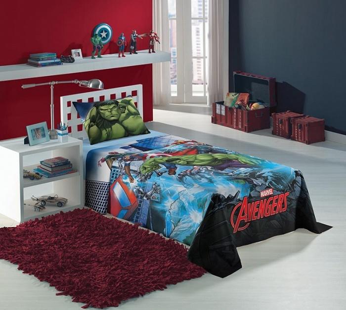 Jogo de Cama Solteiro 2 pçs Avengers 059049 - Lepper