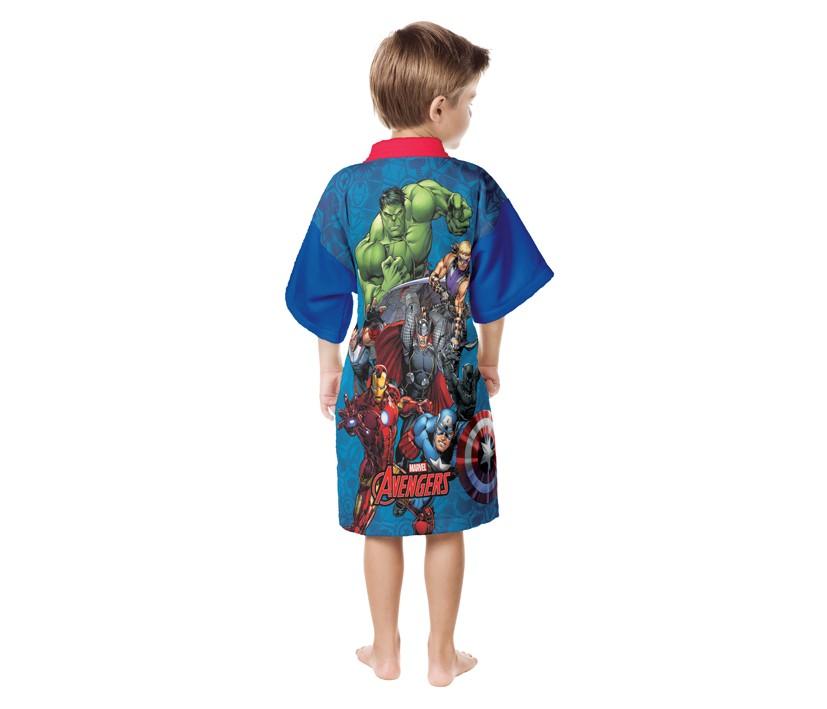 Roupão Infantil Quimono Avengers