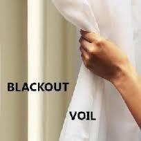 Cortina De Voil E Blackout 2,00x1,80 Corta Luz Para Varão