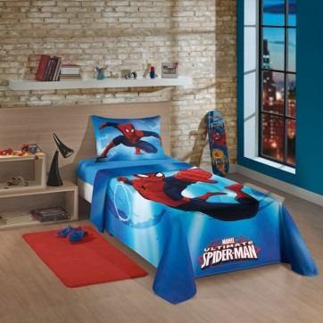 Jogo De Cama Estampado Spider-man Ultimate Original