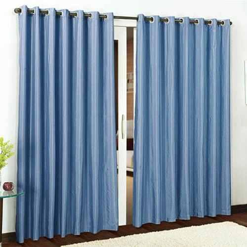 Cortina Rústica Para Janela  2,00x1,80 Premium Azul | Admirare