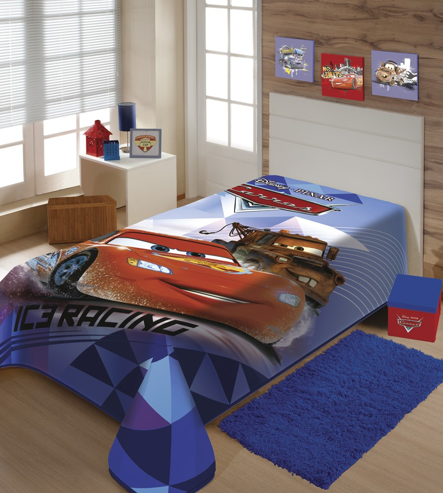 Cobertor Carros Disney Super Macio e Grosso - Raschel Jolitex