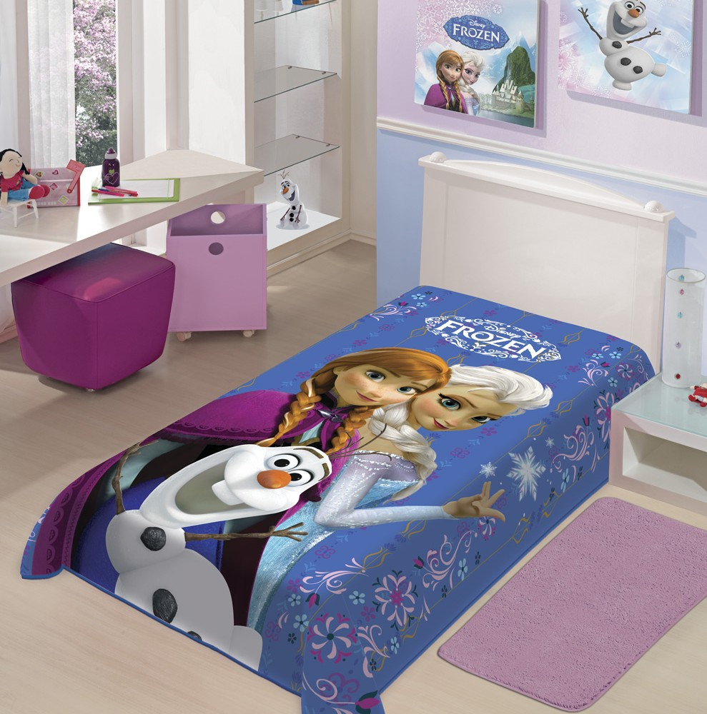 Cobertor Frozen Raschel Super Macio Antialérgico - Jolitex