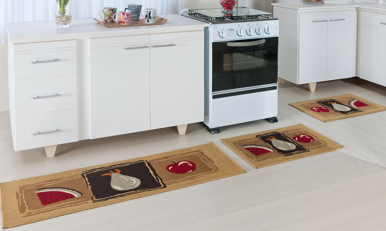 Conjunto de tapete para cozinha Madrid   Oasis