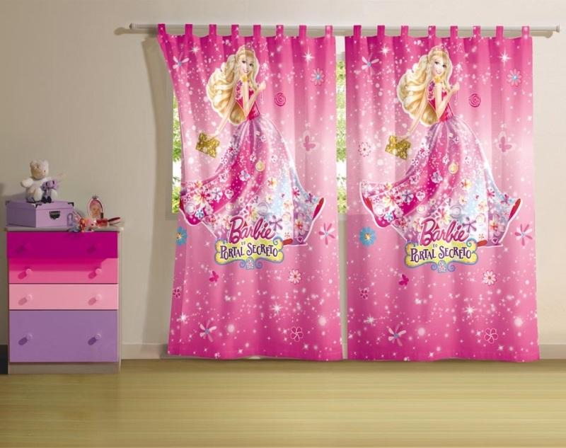 Cortina 2 Peças Barbie e o Portal Secreto | Lepper
