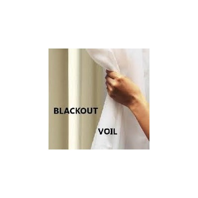 Cortina Blackout Tabaco com Voil 2,00 x 1,80 - Admirare