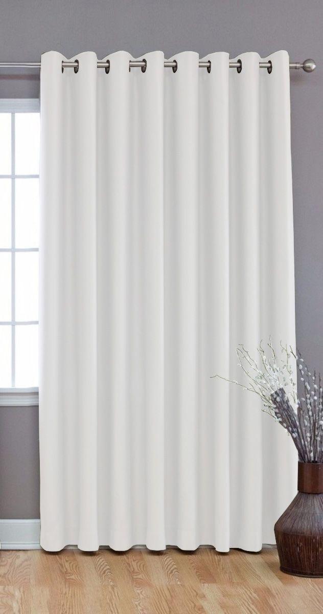 Cortina Corta Luz Blackout PVC(Plástico) 1,40x1,80 Branca  Admirare - 1 Folha