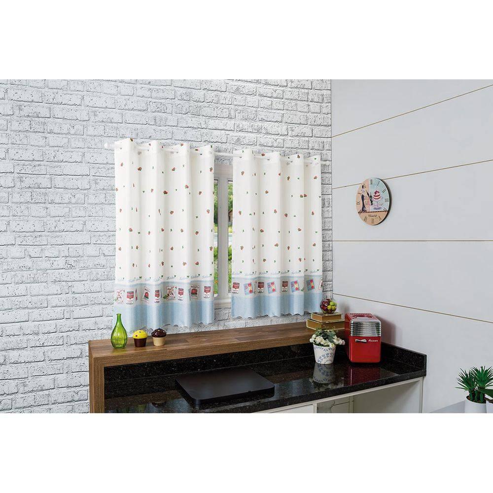 Cortina de Cozinha 260x120 Allegra | Bella Janela
