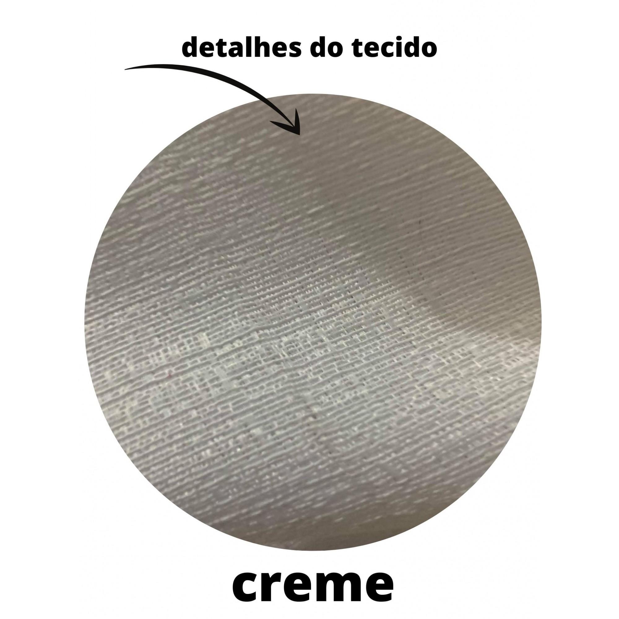 Cortina Para Sala Rustica Creme 3,00x2,50 | Admirare