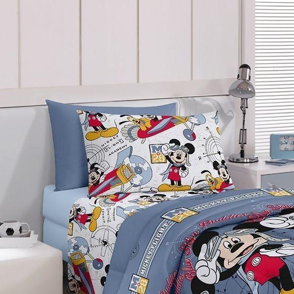 Jogo de Cama Infantil Disney Mickey Aviador Santista