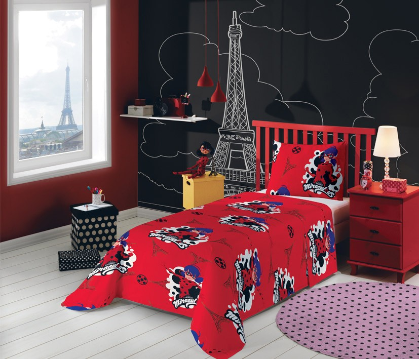 Jogo de cama Miraculous: As Aventuras de Ladybug  2 Peças | Lepper