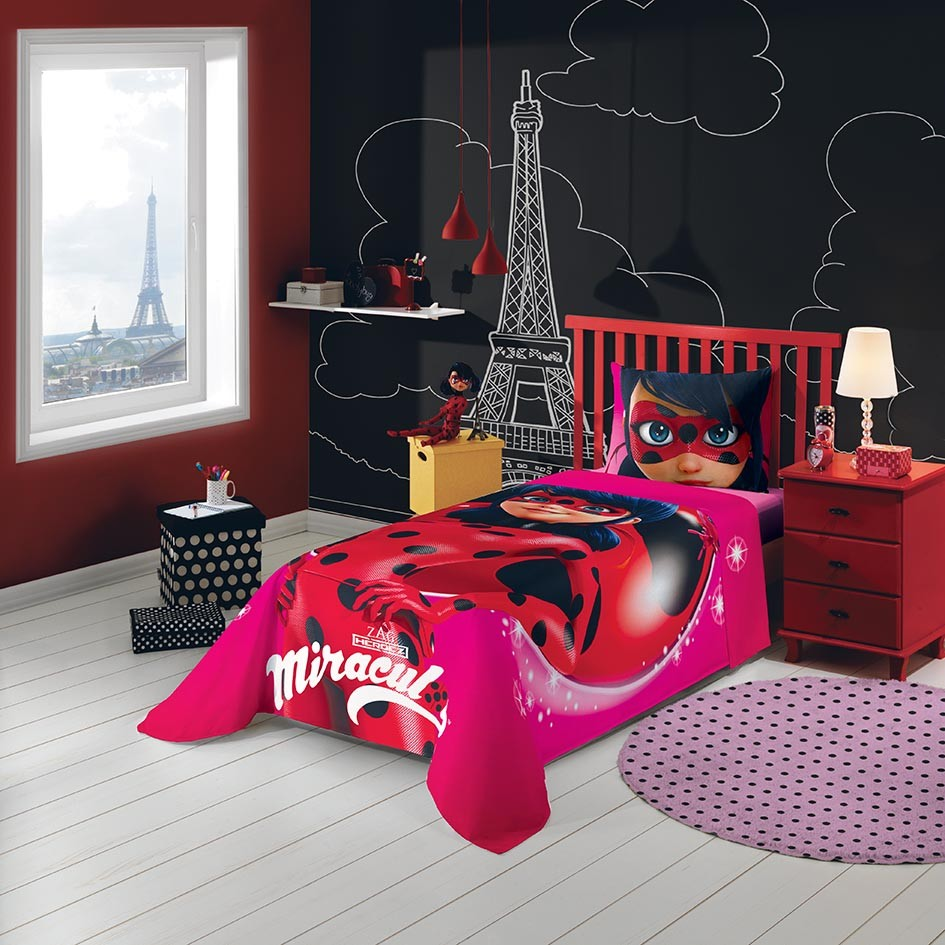 Jogo de cama Miraculous: As Aventuras de Ladybug 3 Peças | Lepper