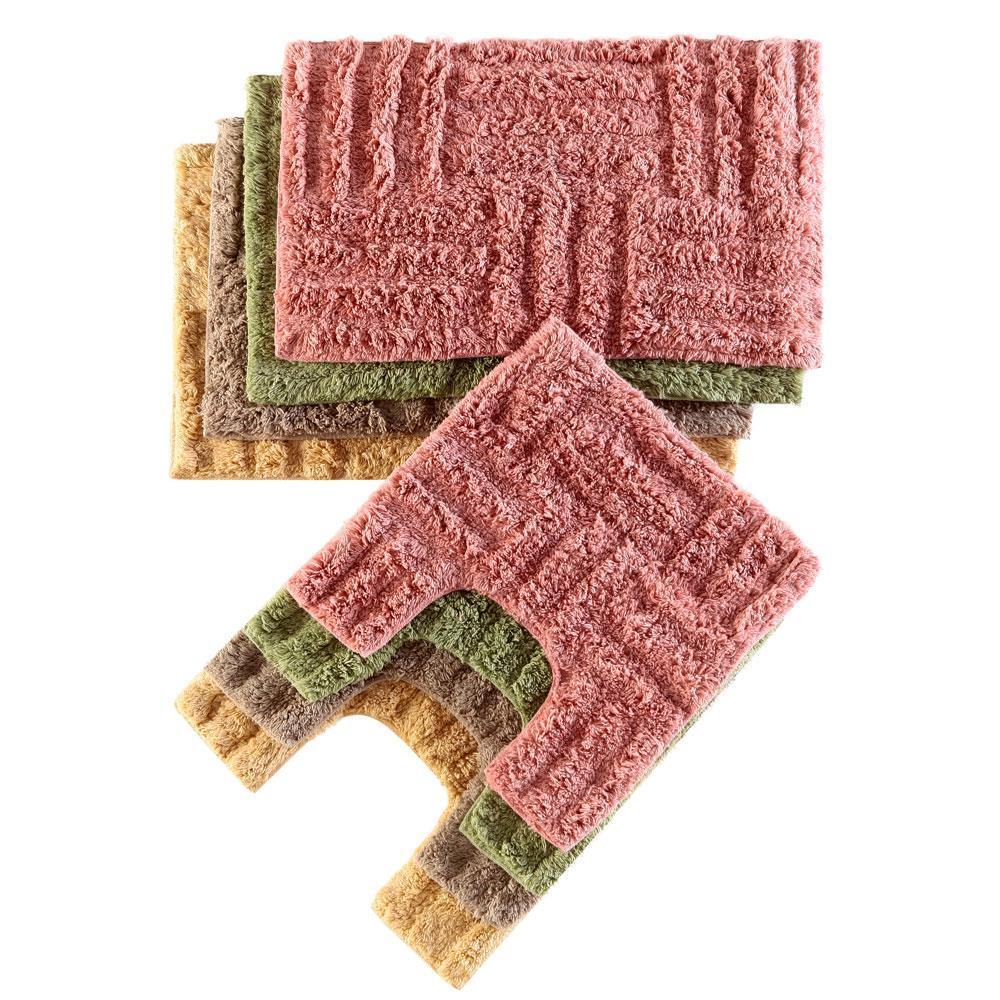 Jogo de Tapetes para Banheiro 2 Peças Carícia Corttex Geometria