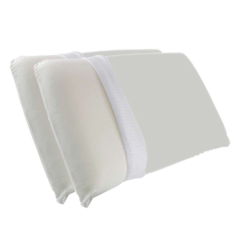 Kit 2 Travesseiro Viscoelástico com capa protetora impermeável
