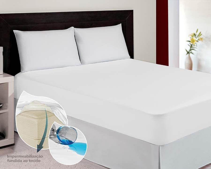 Kit Capa Protetora de Colchão solteiro + 2 Capas de travesseiro