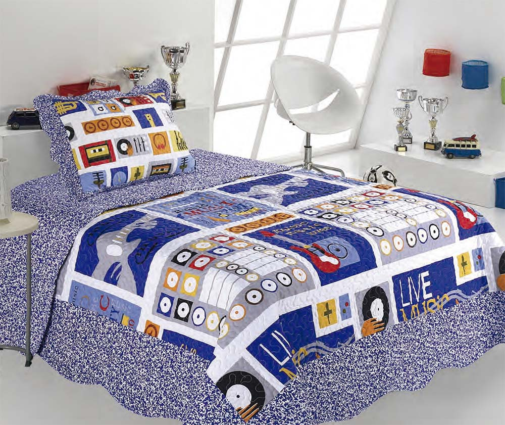 Kit Colcha Solteiro Kids Patchwork | Sultan
